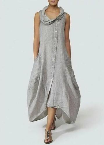 Fashionable Solid Basic Cocoon Casual Women Dress