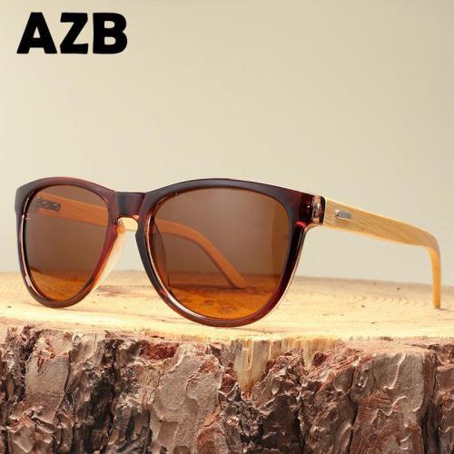 Dazzling Wild Unisex Bamboo Frame Sun Glasses