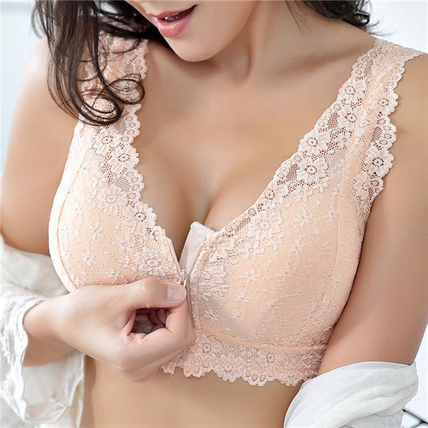 Cotton Lining Gather Wireless Soft Lace Comfort Embroidery Bra