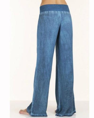 Plus Size Fashion Loose Pure Color Yoga Pants