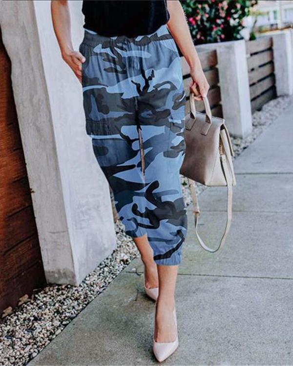 Daily Camouflage Casual Pocket Pants