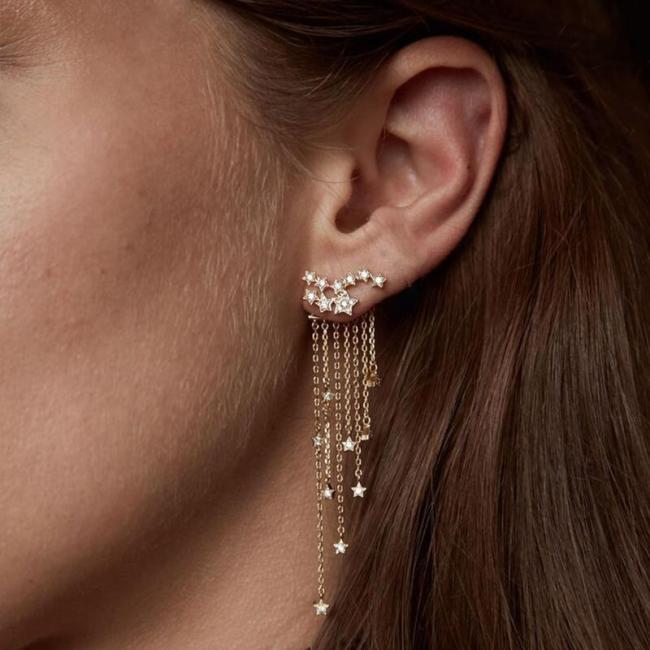 Jewelry-Shining Stars Tassels Earrings