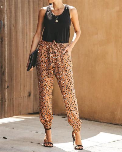Leopard Women Bottom Fashion Lady Loose Pants