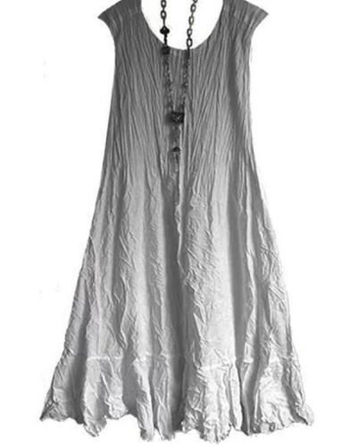 Crew Neck Shift Daytime Casual Cotton-Blend Mini Dresses