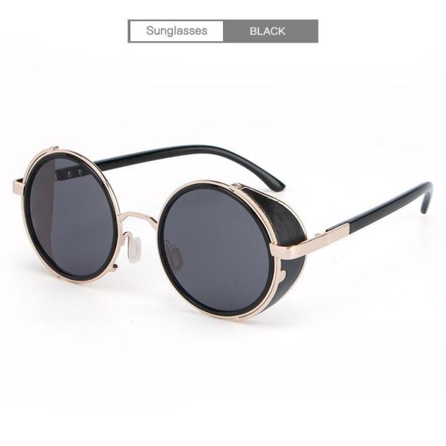 Punk Unisex Polarized Fashion Vintage Pilot Sun Glasses With Box