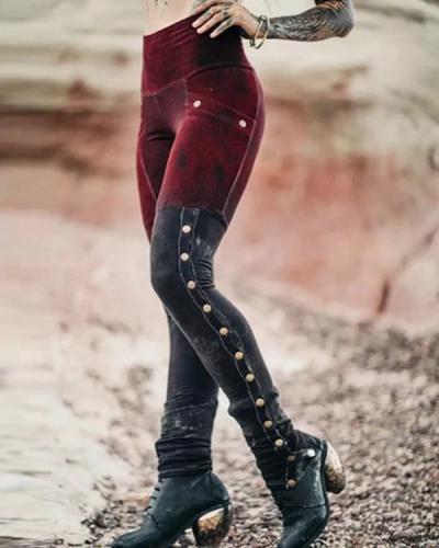 Women's Cotton-Blend Vintage Pants