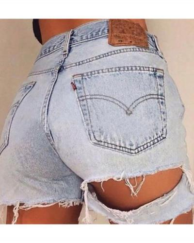 Ripped Denim Shorts Hot Pants