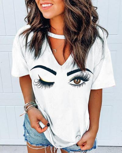 Short Sleeve Printed Casual T-shirt