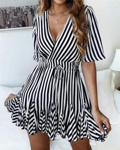 Plus Size Loose Casual Vacation Mini Dress