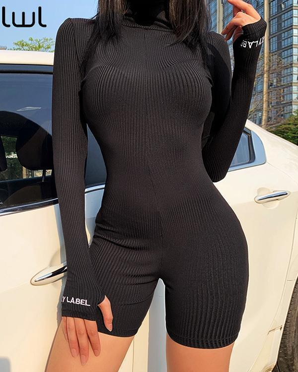 Streetwear Knitted Sexy Bodycon Jumpsuit Romper