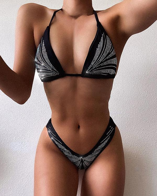 Tie High Waist Thong Bikini
