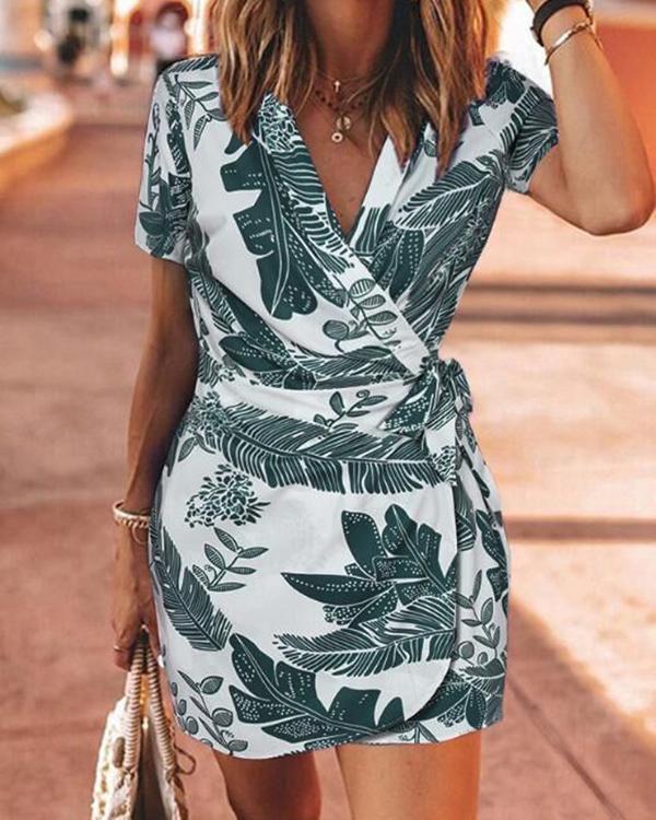 Summer Floral Print Mini Dress