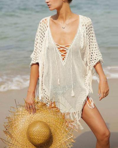 Loose Bikini Swimsuit Half Sleeve Sunscreen Beach Dresses