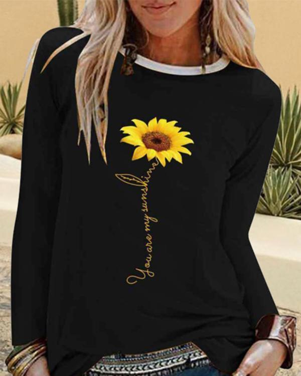 Long Sleeve Printed Floral Casual Shirts & Tops