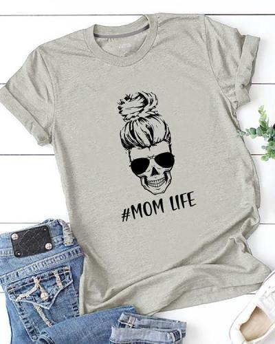 Mom Life Printed T-Shirt Tee