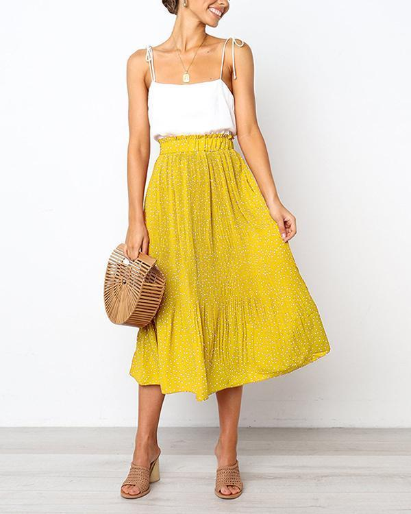 Vintage Polka Dot Midi Swing Skirt