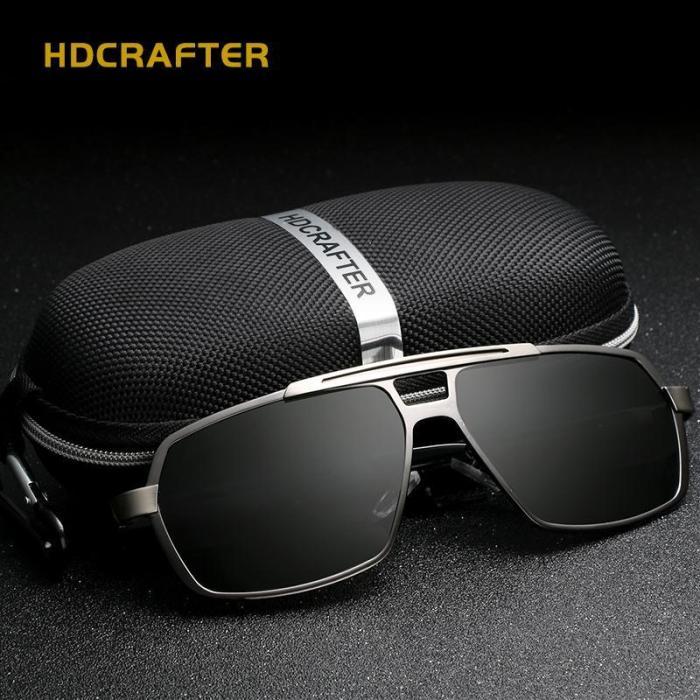 UV400 Men's Polarized  Vintage Pilot Sun Glasses With Box
