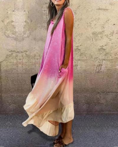 Sleeveless Cotton-Blend Crew Neck Dresses