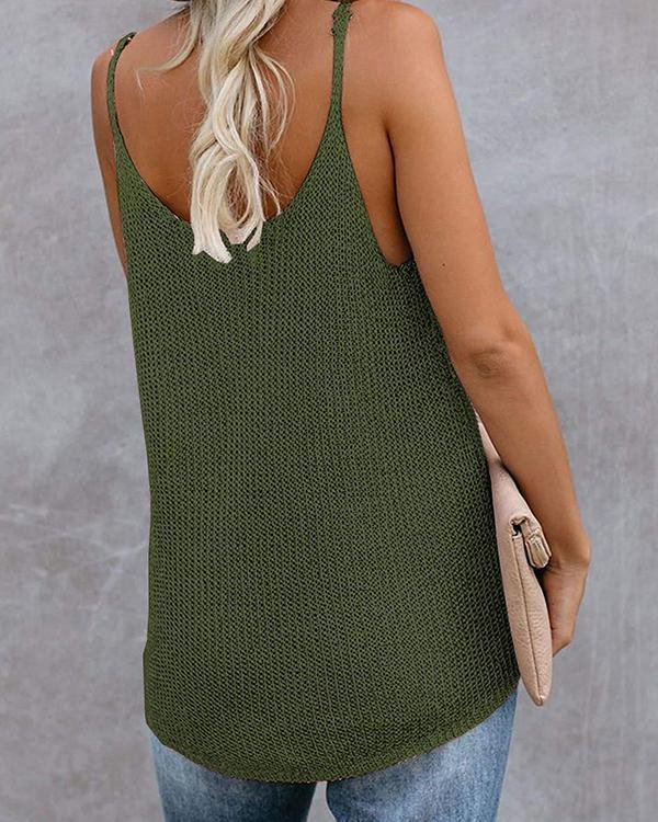 Knitted Spaghetti Holiday Sleeveless