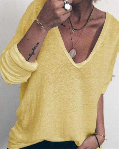 Long Sleeve Casual Holiday Summer Women Daily Tops