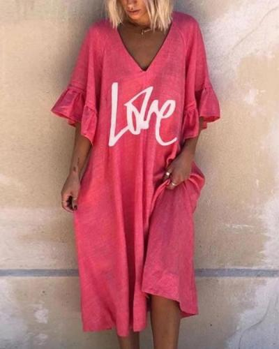 Women's A-Line Dress Printed Knee Length Dress