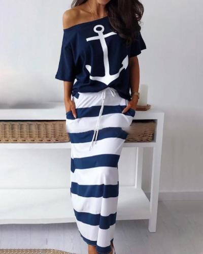 Printed Bohemian Fashion Summer Holiday Maxi Dresses