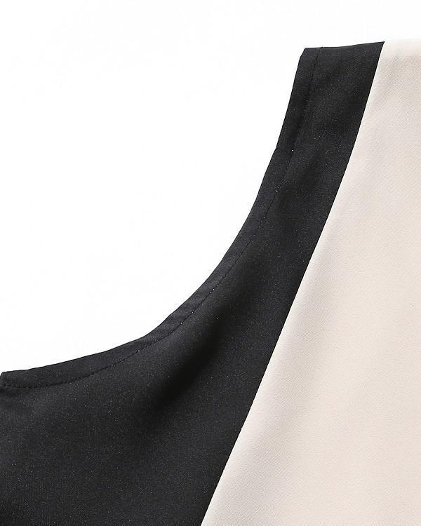 Sleeveless Patchwork  Holiday Women Fashion Maxi Dresses