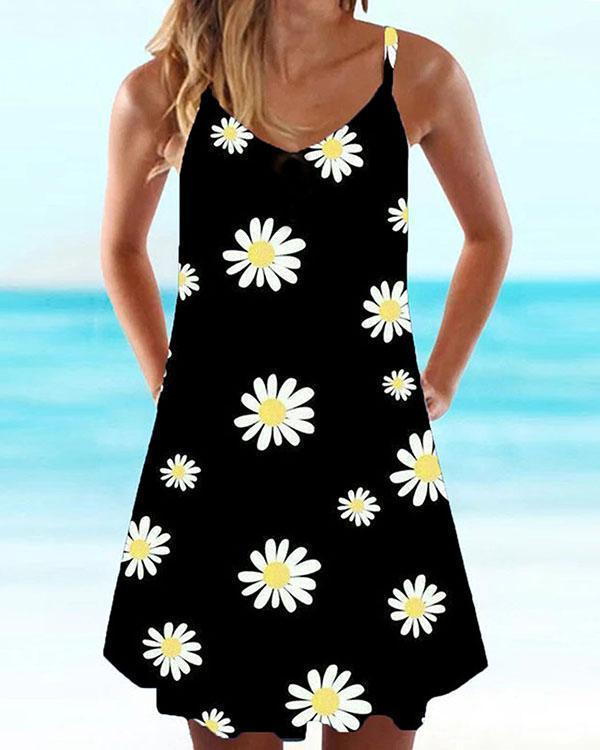 Women Floral Beach Mini Dress