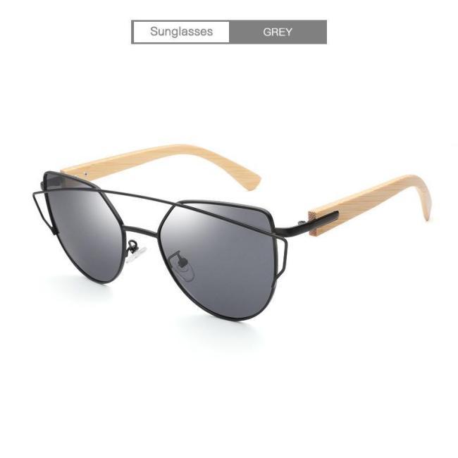 Vintage  Eyewear Wild Unisex Bamboo Frame Sun Glasses