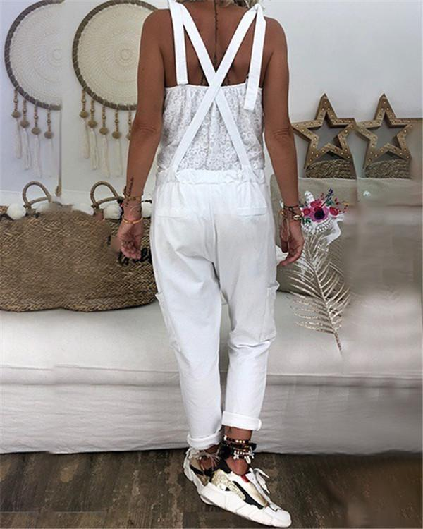 Summer Solid Leisure Loose Casual Summer Jumpsuits