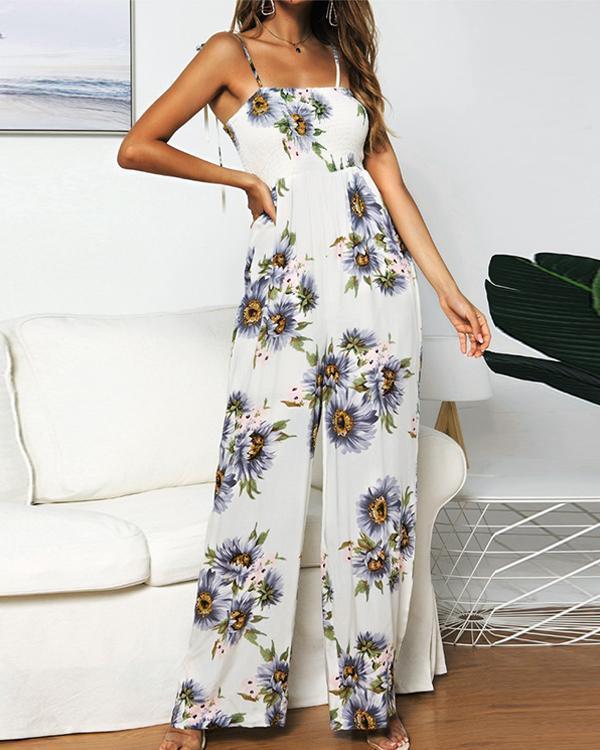 Sunflower Bohemian Long Casual Jumpsuit