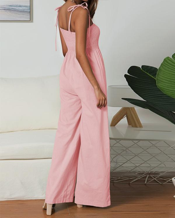 Solid Color Sexy Jumpsuits