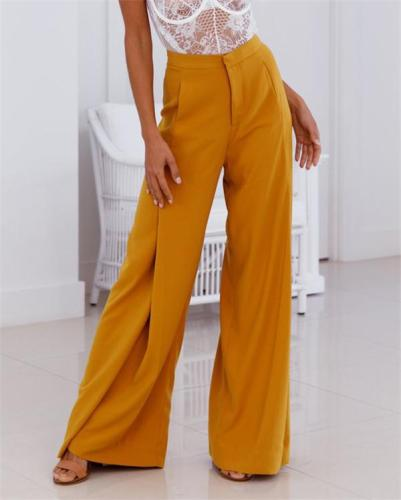 Solid High Waist Sexy Soft  Bottoms Loose Stylish Casual Pants