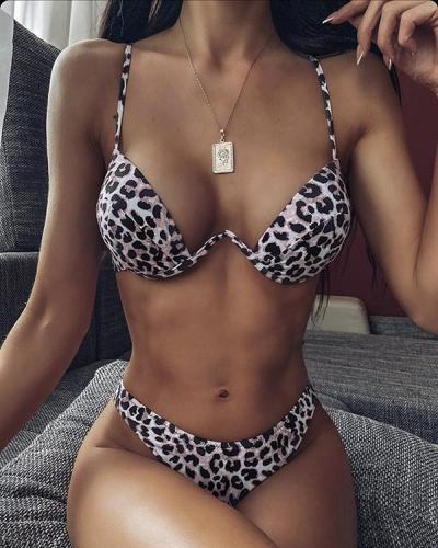 Sexy Push Up High Cut Thong Spaghetti Straps Bikini
