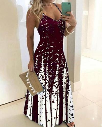 Women's Plus Size Sundress Maxi Sexy Dress