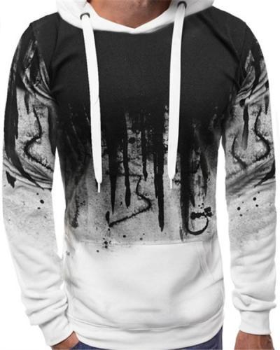 Men Printed Hiphop Streetwear Long Sleeve Sweatshirt