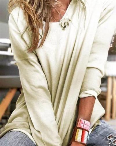 Oversized Hot Long Sleeve Fall Fashion Casual Daily Women Blouse
