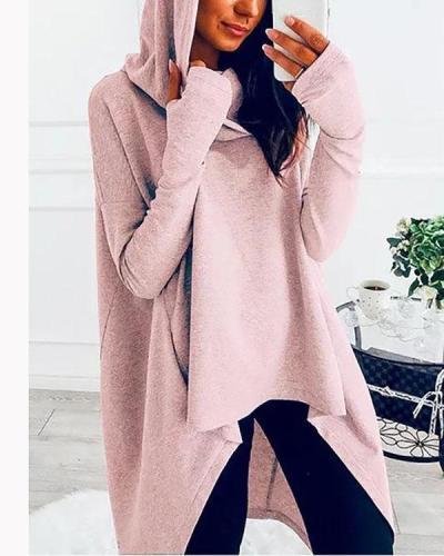 High Low Hem Hoodies Sweatshirts