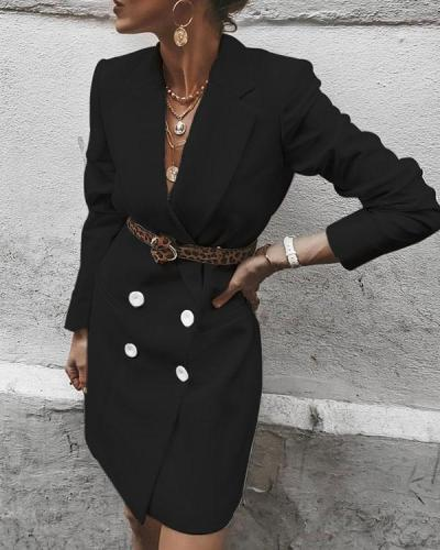 Shawl Collar Button Coat