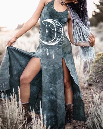 Women's Printed Split Dress