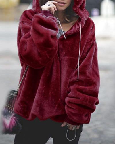 Long Sleeve Hoodie Sweatshirt Hooded Jumper Sweater Pullover Tops Coat