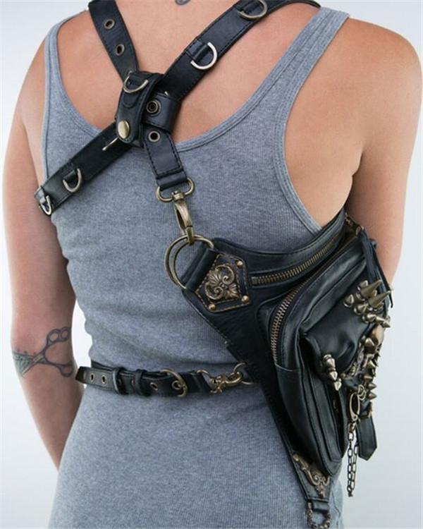 Women's Vintage Multifunctional Punk Shoulder Crossbody Bag