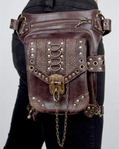 Women's Retro Punk Crossbody Bag