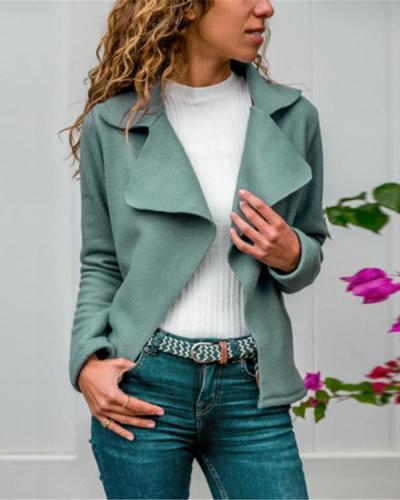 Women's Autumn Solid Color Collar Jacket