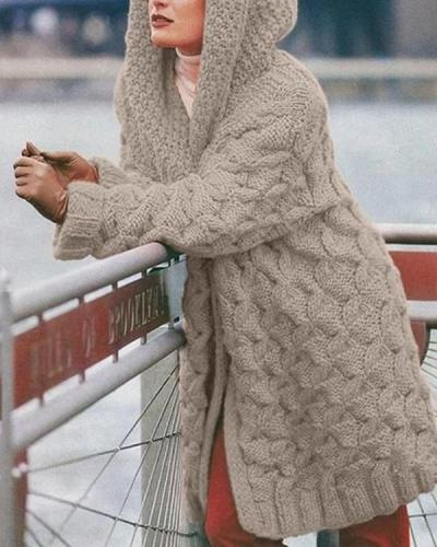 Long-Sleeved Warm Knitted Sweater