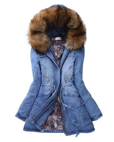 Winter Turndown Collar Loose Warm Coats