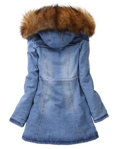 Winter Turndown Collar Loose Warm Coats