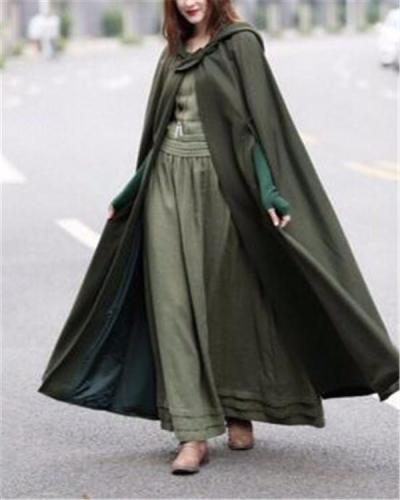 King-Size Halloween Long Solid Cloak Magician For Women