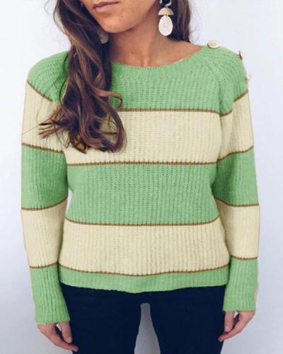 Color-lump Patchwork Sweater