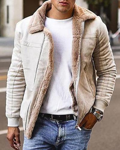 Patchwork Lapel Casual Loose Jacket